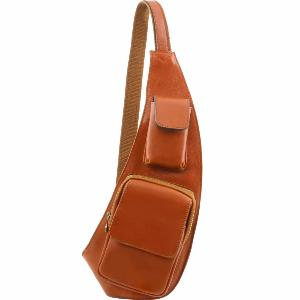Sac Porté Travers Cuir Homme Miel -Tuscany Leather-
