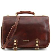 Sacoche Business Cuir Homme ou Femme Marron  -Tuscany Leather-