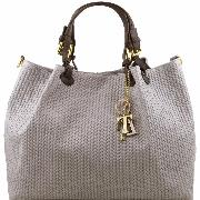 Promo Grand Sac Fourre-tout Cuir Femme Nouvelle Collection -Tuscany Leather-