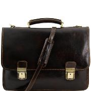 Sacoche Cuir Homme Femme 2 Compartiments  - Tuscany Leather -