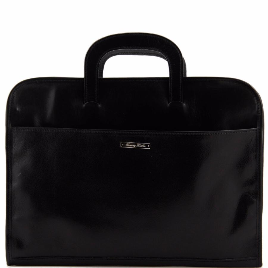 9eef42cd37 Serviette Cuir Porte Documents Noir -Tuscany Leather-