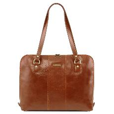 Sac Ordinateur Femme Cuir Camel - Tuscany Leather -