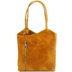 Sac Cuir Convertible en Sac à Dos Femme - Tuscany Leather -