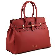 Sac à Main Cuir Chic Femme Rouge  - Tuscany Leather -