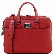 Sac Cuir Ordinateur Portable Femme Rouge -Tuscany Leather-