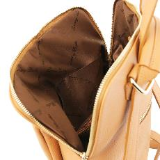Sac à Dos Femme Cuir Souple Beige - Tuscany Leather -