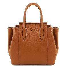 Sac à Main Cuir Souple Femme Camel - Tuscany Leather -