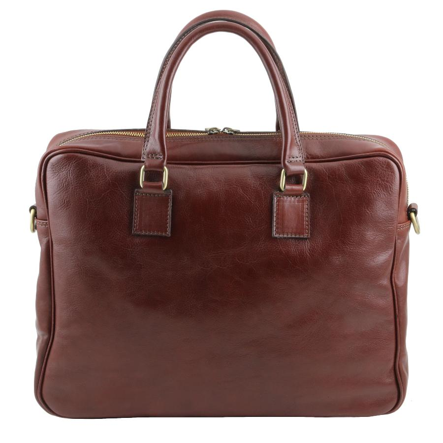 Ordinateur Leather Marron Cuir Sacoche Tuscany Portable A4jqR5Lc3