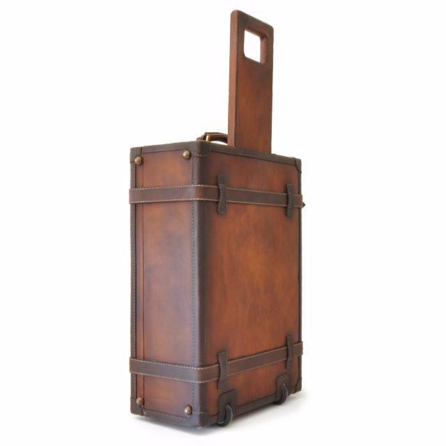 valise trolley cuir vintage pratesi. Black Bedroom Furniture Sets. Home Design Ideas