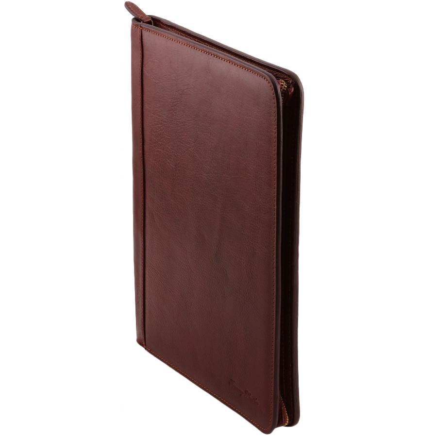 Conf rencier cuir anneaux a4 tuscany leather - Porte document homme luxe ...