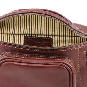 Sac Banane Cuir Homme Marron - Tuscany Leather -