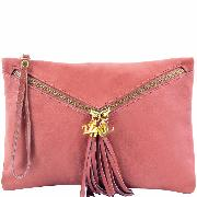 Nouvelle Collection Sac Pochette Cuir Femme Rose -Tuscany Leather-