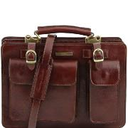 Sacoche de Travail Cuir Femme Tania Marron -Tuscany Leather-