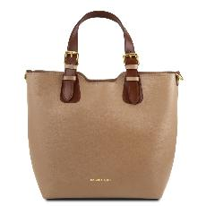 Sac Cabas Cuir Femme - Tuscany Leather -