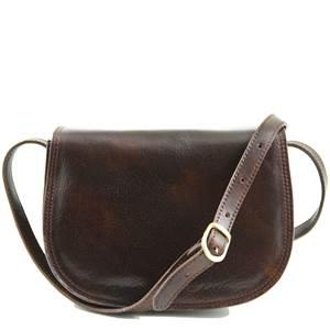 30303fa07c Sac Bandoulière Cuir Femme Marron Foncé -Tuscany Leather-