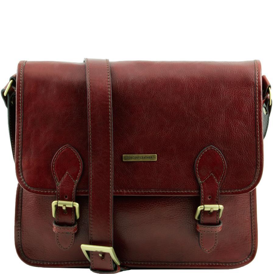 Réduction offre spéciale beaucoup à la mode Sac Besace Vintage Cuir Homme Femme -Tuscany leather -