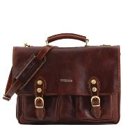 Cartable Cuir Poches et Bandoulière - Tuscany Leather -