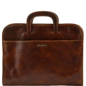 Serviette Cuir Porte Documents Marron -Tuscany Leather-