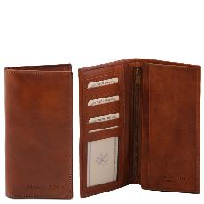 Portefeuille Cuir Marron Homme à Compartiments Marron-Tuscany Leather-