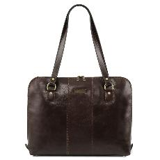 Sac Epaule Ordinateur Femme Cuir - Tuscany Leather -
