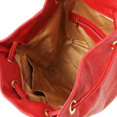 Sac à Dos Femme Cuir Souple Rouge - Tuscany Leather -