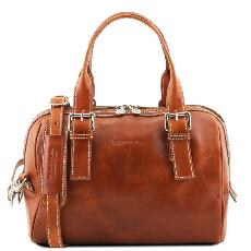 Sac Bowling Cuir Femme Camel - Tuscany Leather -