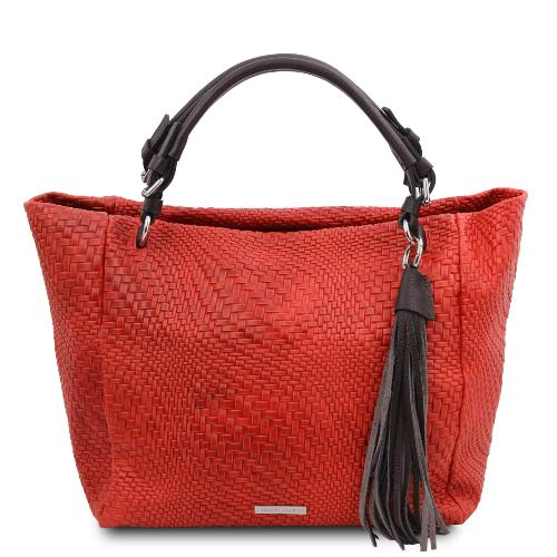 Sac Shopping en Cuir imprimé - Tuscany Leather -