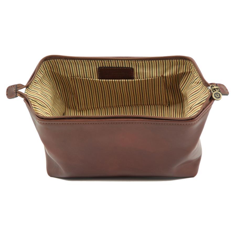 trousse de toilette en cuir smarty grand mod 232 le tuscany leather