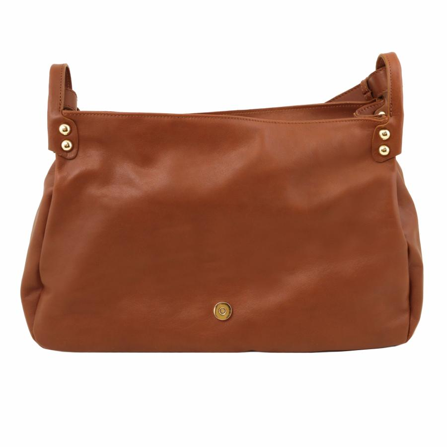 Grand Sac Bandoulière Cuir Femme : Sac bandouli?re cuir souple rabat femme tuscany leather