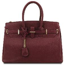 Solde Sac Cuir Grainé Femme avec Sangle - Tuscany Leather -