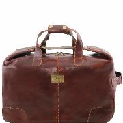 Sac Voyage Cuir Roulettes Marron - Tuscany Leather -