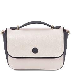 Sac Bandoulière Cuir Femme Blanc - Tuscany Leather -