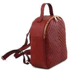 Sac à Dos de Ville Cuir Femme Rouge - Tuscany Leather -