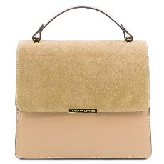 Sac Cuir Chic Chainette Femme Beige - Tuscany Leather -