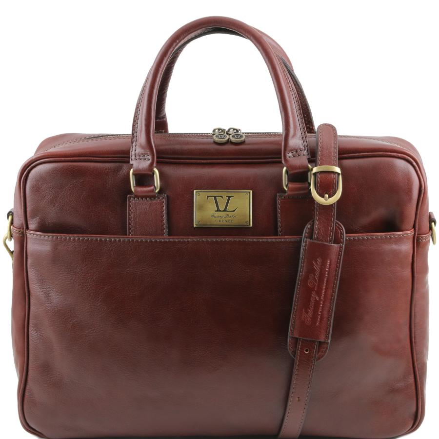 bd74b636fb Sacoche Ordinateur Portable Cuir Marron - Tuscany Leather -