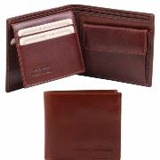 Destock Portefeuille Extra Plat Cuir Véritable Homme Marron -Tuscany Leather-