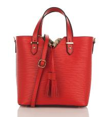 Grand Sac Cabas Cuir Femme Rouge - First Lady -