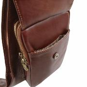 Sac Porté Travers Cuir Homme Marron -Tuscany Leather-
