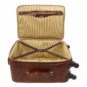 Valise Cuir Cabine Avion 4 Roulettes   -Tuscany Leather-