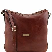 Sac Bandoulière Femme Cuir - Tuscany Leather  -