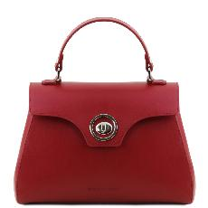 Sac Cuir Retro Femme Rouge - Tuscany Leather -