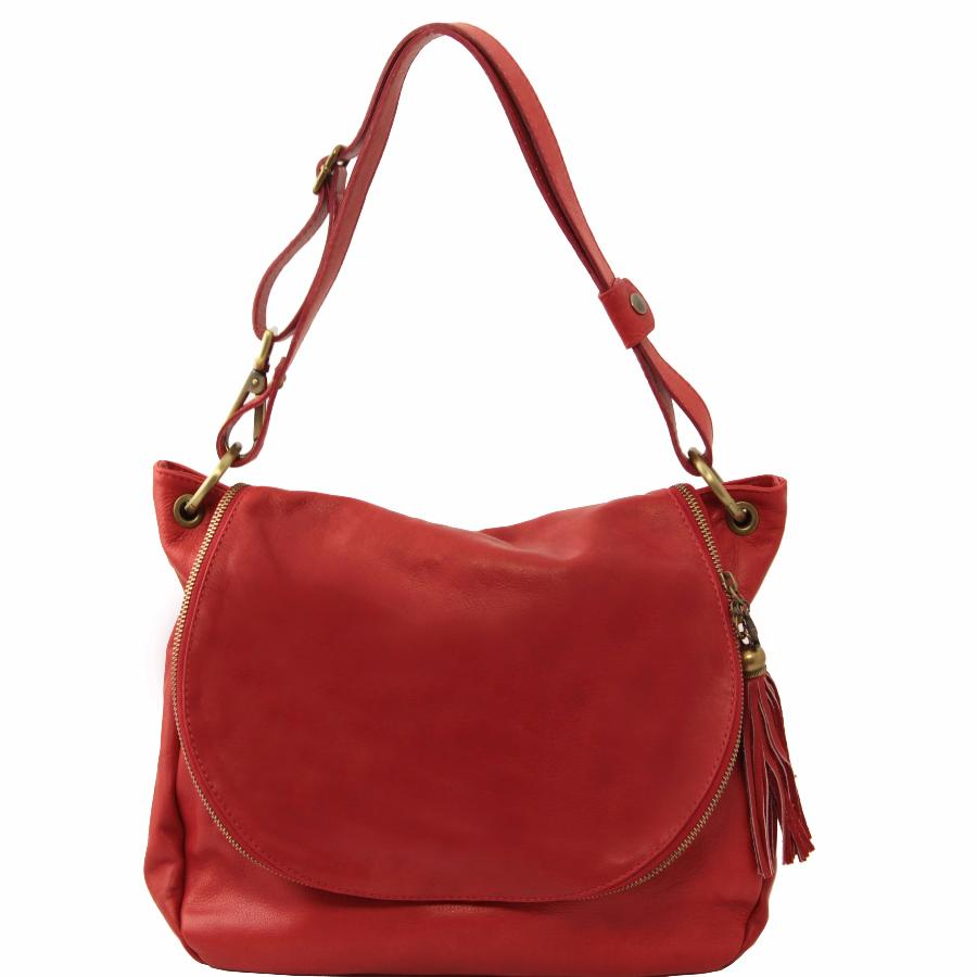 Grand Sac Bandoulière Cuir Femme : Grand sac cuir bandouli?re besace pour femme tuscany leather