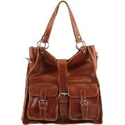 Grand Sac Cuir à Poches Femme Miel -Tuscany Leather-