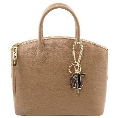 Petit Sac Cuir Beige Femme -Tuscany Leather-