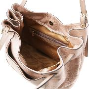 Grand Sac Besace Cuir Femme Beige - Tuscany leather -