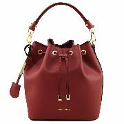 Sac Seau Cuir Femme Vittoria Rouge -Tuscany Leather -