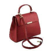 Sac Cuir Femme 2 Compartiments  Rouge - Tuscany Leather -