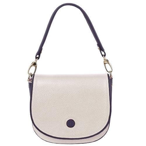 f747b89fe2 Sac Besace Bandoulière Cuir Femme Blanc - Tuscany Leather -