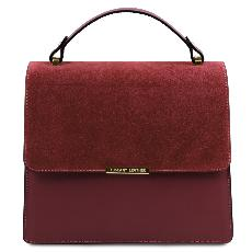 Sac Cuir Chic Chainette Femme Bordeaux - Tuscany Leather -