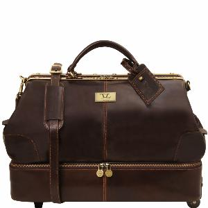 Sac de voyage cuir avec double fond -Tuscany Leather-